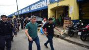 Secretário de Segurança Bosco Saraiva acompanhou operação na área da Feira da Banana (Foto: Bruno Zanardo/SSP-AM)