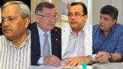 Evandro Melo, Wilson Alecrim, Pedro Elias e Raul Zaidan foram presos pela PF na Operação Custo Político (Fotos: ATUAL/Arte)