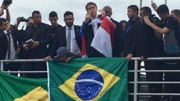 Jair Bolsonaro fez discurso em Manaus onde veio participar de formatura de alunos do colégio da Polícia Militar (Foto: Facebook/Reprodução)