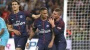 Neymar e Cavani enfrentarão time de Cristiano Ronaldo no mata-mata da Liga (Foto: C. Cavelle/SG/Divulgação