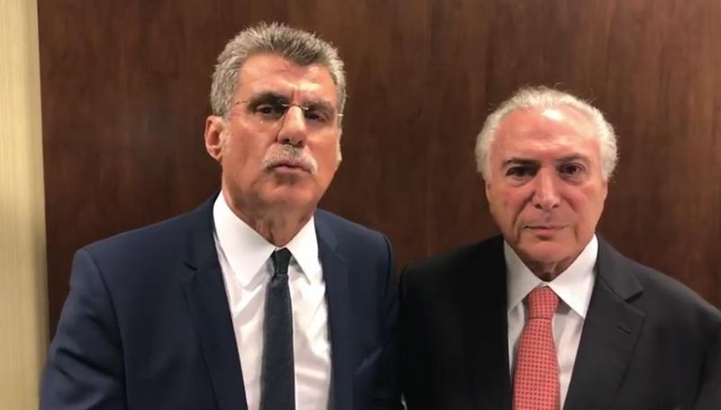 Romero Jucá afirma que Michel Temer não será candidato à Presidência