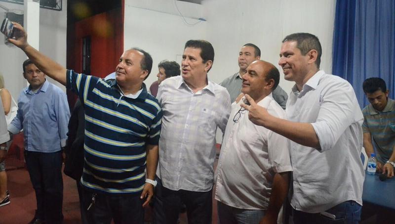 Alfredo Nascimento e Marcelo Ramos já posam como pré-candidatos para a eleição de outubro (Foto: PR/Divulgação)