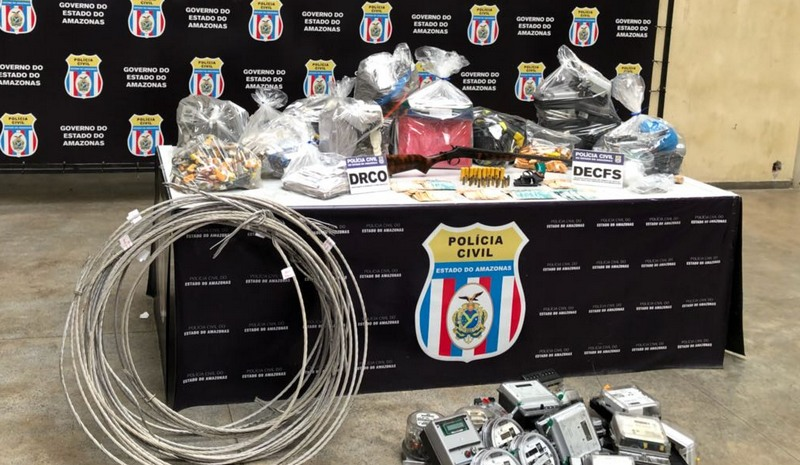 Medidores de energia adulterados foram apreendidos pela operação em Manaus e Iranduba (Foto: Divulgação)