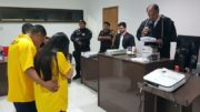 Gilbervan de Jesus Elói e Gilmara França de Souza foram condenados a 12 anos e 11 meses de prisão por morte de criança (Foto: Comarca de Autazes/Divulgação)
