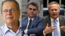José Dirceu, Romero Jucá e Renan Calheiros são investigados por suposto recebimento de propina da Odebrecht (Foto: Agencia Brasil)