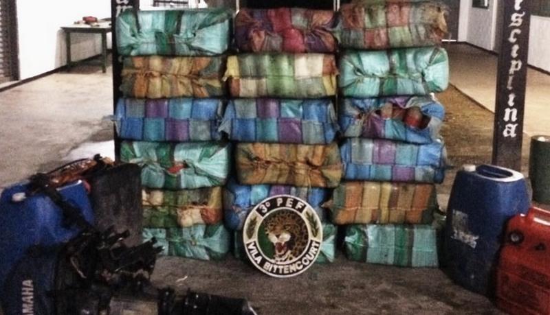 Exército apreende quase uma tonelada de 'skunk' na fronteira com a Colômbia