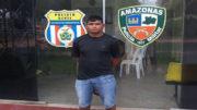 Erinilson é mais um suspeito do assassinato de esportista britânica, morta em comunidade no Rio Solimões (Foto: PC-AM/Divulgação)