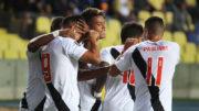 Evander marcou dois gols na goleada do Vasco sobre time chileno na estreia da Copa Libertadores (Foto: Paulo Fernandes/Vasco)
