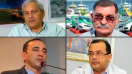 Evandro Melo, Wilson Alecrim, Afonso Lobo e Pedro Elias de Souza