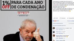 Postagem da franquia de Manaus no Facebook sobre promoção envolvendo o ex-presidente Lula (Foto: Reprodução)