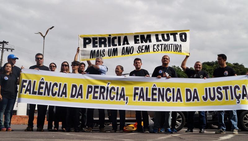 Peritos reivindicam aumento salarial e vão paralisar atividades (Foto: Sinpoeam/Divulgação)