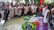 Movimento Dandara fez protesto em delegacia de polícia em Manaus (Foto: Divulgação)