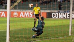 Goleiro Martin Silva defendeu três coranças de pênaltis e salvou o Vasco na Copa Libertadores (Foto: Paulo Fernandes/Vasco)