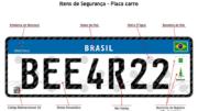 Modelo padrão de placa no Mercosul tem uma série de itens de segurança (Foto: Divulgação)
