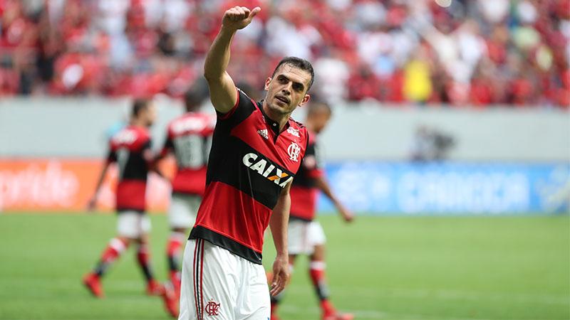 Rodolfo marcou o gol do triunfo flamenguista que garantiu vaga na semifinal (Foto: Gilvan de Souza/Flamengo)