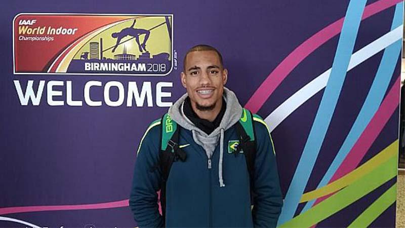 Almir Júnior conquistou medalha inédita no Campeonato Mundial Indoor (Foto: Anderson Rosa/CBAt)