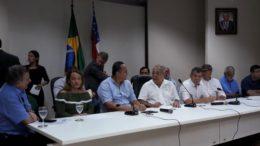 Governador Amazonino Mendes reuniu secretários e prefeitos para anunciar investimentos no interior (Foto: ATUAL)