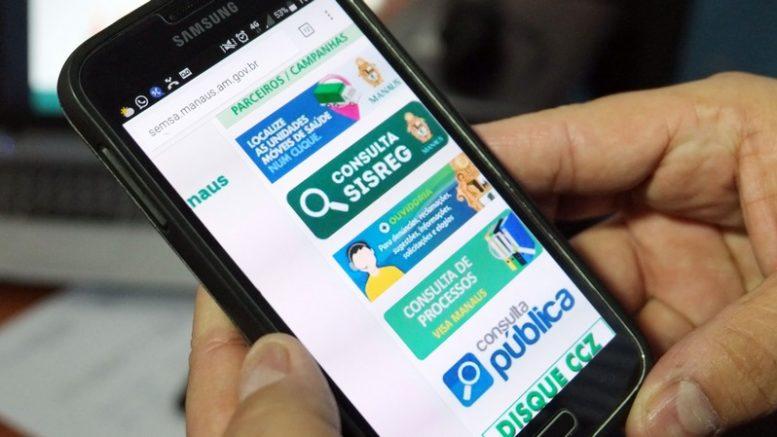 Aplicativo permite acompanhar processo de consultas e exames nas unidades municipais de saúde (Foto: Lucas Silva/Semcom)