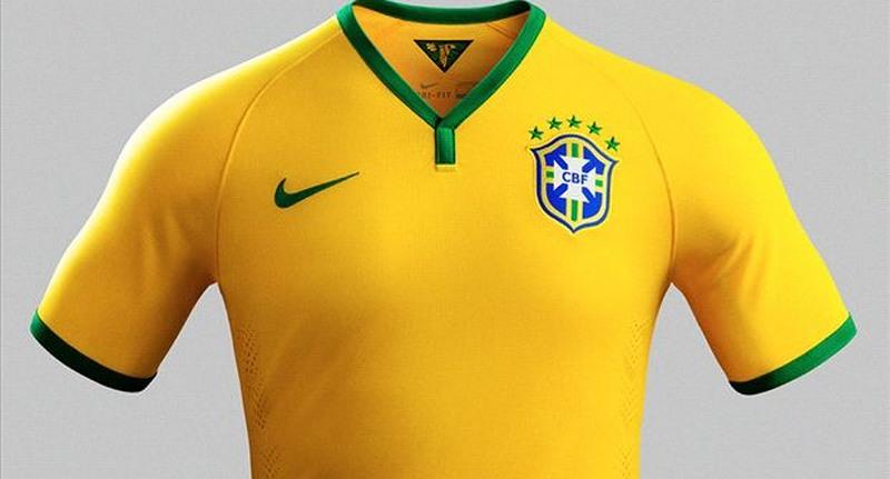 b743a965ab493 Camisa do time brasileiro é em amarelo vibrante