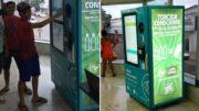 Máquina emite cupom para troca de ingressos do jogo da Copa Verde (Foto: Tacio Melo/CBF/Divulgação)