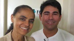 Marina Silva, pré-candidata à Presidência, com Júnior Brasil, aposta do partido para o Governo do Amazonas (Foto: Rede/Divulgação)