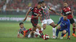 Flamengo e Fluminense empataram em 1 a 1, resultado que favoreceu o Tricolor (Foto: Gilvan de Souza/Flamengo)