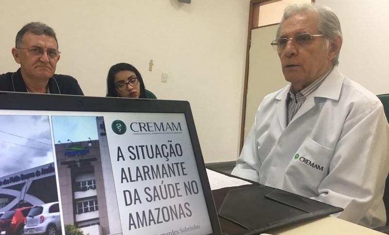 José Bernardes Sobrinho, presidente do Cremam, disse que levará situação da saúde ao Ministério Público (Foto: ATUAL)