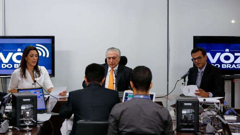 Presidente Michel Temer em entrevista na A Voz do Brasil, que veicula notícias do Executivo, Legislativo e Judiciário (Foto: Marcos Corrêa/PR/Fotos Públicas)