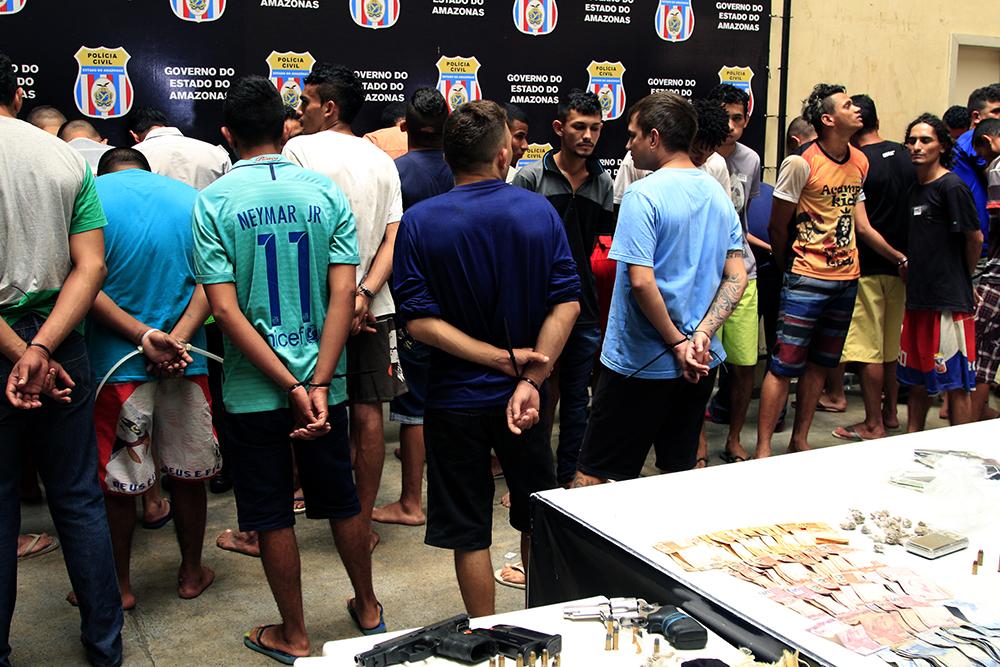Operação Jejuardes prende 74 adultos e apreende nove adolescentes em Manaus