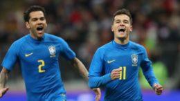Philippe Coutinho marcou de pênalti um dos gols do Brasil na vitória sobre a Rússia (Foto: Lucas Figueiredo/CBF)