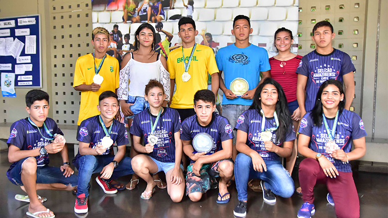 Seleção amazonense de Luta Olímpica é campeã por equipe no brasileiro