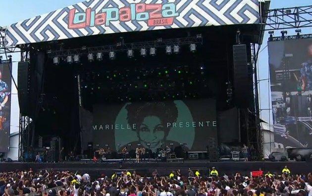 Lollapalooza: Artistas fazem série de homenagens a Marielle