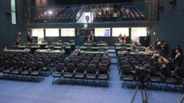 Plenário da ALE ficou vazio na manhã desta quinta-feira (Foto: Márcio Gleyson/ALE-AM)