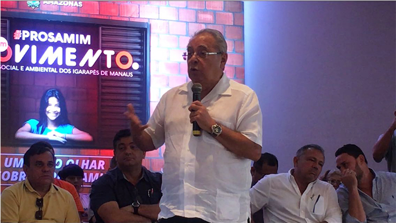 Amazonino é candidato à reeleição e PDT nacional discute comando no Estado