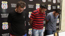José Nobre, Jovanny Rodrigues e Veridiano Júnior são conhecidos como os 'Novos Cangaceiros' (Foto: Erlon Rodrigues/PC-AM)