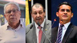 Amazonino Mendes, Omar Aziz e David Almeida