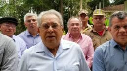 Amazonino reuniu ex-cúpula da Segurança Pública para gravar vídeo em apoio a Bosco Saraiva (Foto: Facebook/Reprodução)