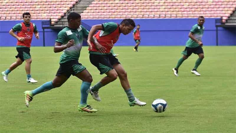 Manaus FC realiza último treino antes da semifinal contra o Paysandu na Copa Verde