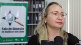 Marinélia Ferreira diz que ocorrência de doença meningocócica é rara no Amazonas (Foto: Lucas Silva/Semcom)