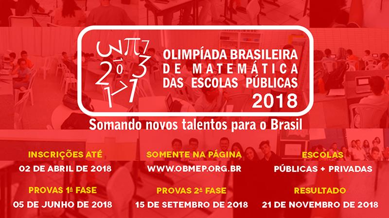 Inscrições para a Olimpíada Brasileira de Matemática das Escolas Públicas terminam nesta segunda