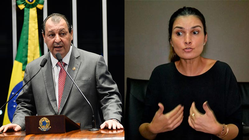 Omar Aziz e Rebecca Garcia