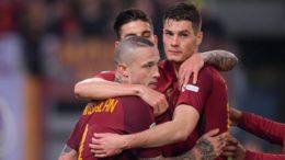 Daniele De Rossi, da Roma, celebra gol contra o Barcelona que garantiu a classificação na Liga dos Campeões (Foto: AS Roma/Divulgação)