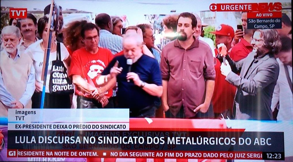 Rede Globo 'sequestra' sinal de TV de São Paulo em eventos de Lula