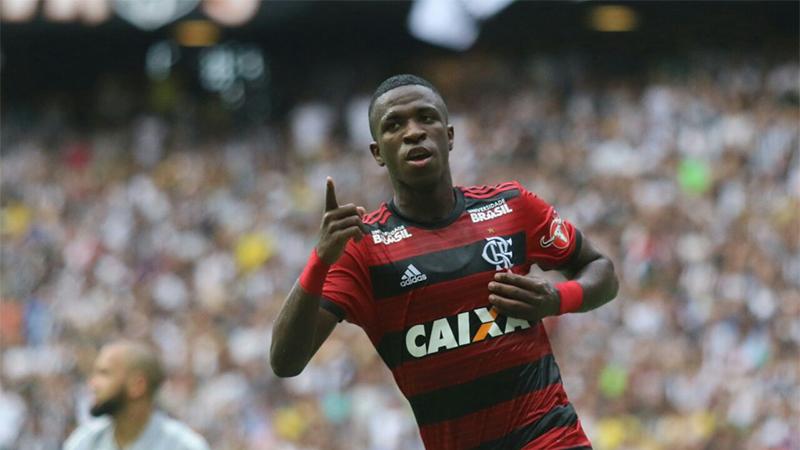 Vinícius Junior foi um dos destaques no Flamengo no triunfo sobre o Ceará (Foto: Staff Images/Flamengo)