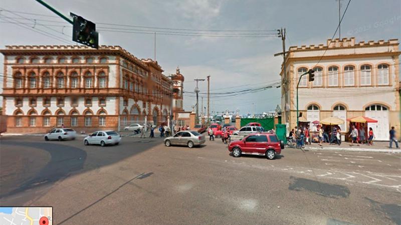 Mirante fica na área do Porto de Manaus em complexo histórico que inclui a Alfândega (Foto: Google/ Reprodução)