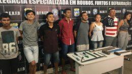 Grupo foi preso quando arrombava agência dos Correios em Nova Olinda (Foto: ATUAL)