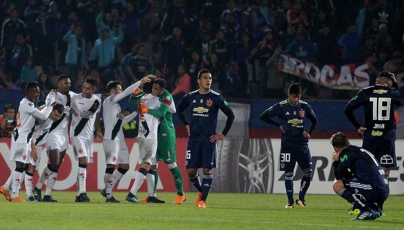 Jogadores comemoraram gol de Pikachu, que garantiu vitória e classificação do Vasco (Foto: Paulo Fernandes/Vasco)