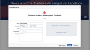 Facebook lança programa que avisa doador sobre falta de sangue