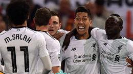 Roberto Firmino celebra classificação do Liverpool à final da Liga dos Campeões (Foto: YouTue/Reprodução)