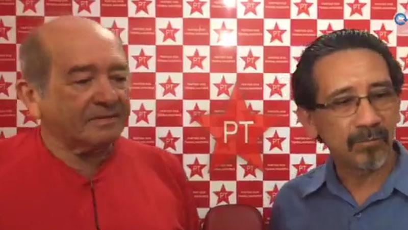 Francisco Praciano (à esquerda) quer coerência nas alianças e Barroncas defende união no PT (Foto: ATUAL)